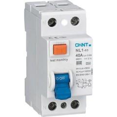 Устройство защитного отключения Chint NL1-63 6kA 2P 40A 30mA тип AC (DB)