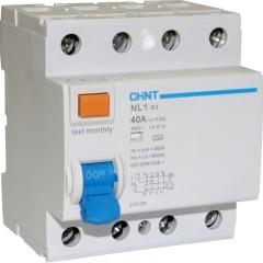Устройство защитного отключения Chint NL1-63 6kA 4P 40A 30mA тип AC (DB)