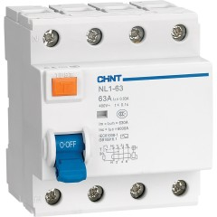 Устройство защитного отключения Chint NL1-63 6kA 4P 63A 30mA тип AC (DB)