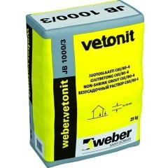Подливочный раствор безусадочный Weber-Vetonit JB 1000/3 25 кг
