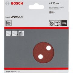 Шлифовальный лист Bosch C470 Best for Wood and Paint D125 мм К120, 5 шт.