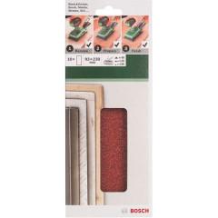Набор шлифовальных листов Bosch 93х230 мм К60/120/180, 10 шт.