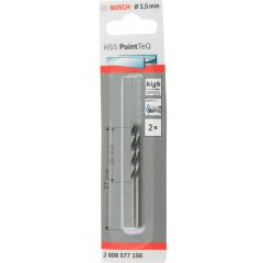 Свёрла Bosch PointTeQ HSS 2.5 мм, 2 шт.