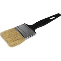 Кисть плоская с натуральной щетиной Эконом черная ручка 50 мм