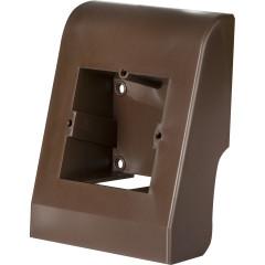 Монтажный бокс Евро профиль 58 мм ПВХ темно-коричневый