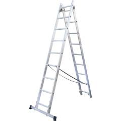 Лестница раскладная Standers NV 222 двухсекционная алюминиевая 9 ступеней