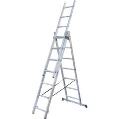 Лестница раскладная Standers NV 523 трехсекционная алюминиевая 9 ступеней