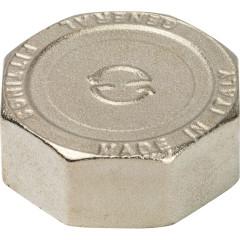 "Заглушка Stout никелированная латунь d 1 1/4"" внутренняя резьба"