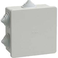 Коробка распаячная для открытой проводки IEK КМ41233 IP44 RAL7035 6 гермовводов 100х100х50 мм