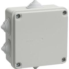 Коробка распаячная для открытой проводки IEK КМ41234 IP55 RAL7035 6 гермовводов 100х100х50 мм