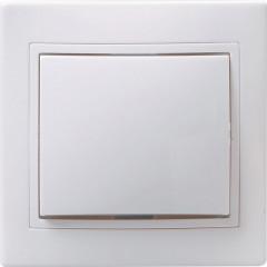 Выключатель IEK Кварта ВС10-1-1-КБ 1-клавишный с подсветкой встроенный 250 В 10 А белый