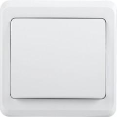 Выключатель IEK Вега ВС10-1-1-ВБ 1-клавишный с подсветкой встроенный 250 В 10 А белый