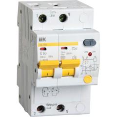 Дифференциальный автомат IEK АД12М 30мА 16А 1П+Н AC