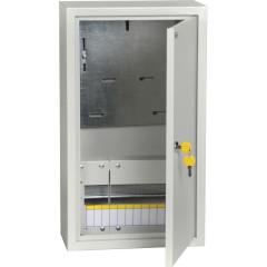 Корпус IEK ЩУРн-1/12з-0 распределительно-учетный накладной 12 модулей 400 В 125 А УХЛЗ IP31 сталь