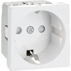 Розетка для кабель-каналов IEK ПРАЙМЕР с заземляющим контактом на 2 модуля белая