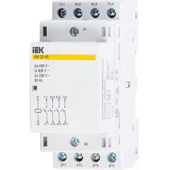 Контактор модульный IEK КМ20-40 AC 400В 20А 4НЗ 36 мм