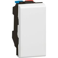 Выключатель Legrand Mosaic 1-клавишный 1-модульный встроенный 250 В 10 А IP41 белый