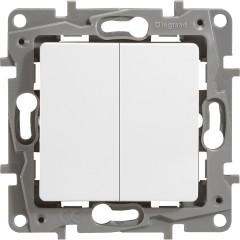 Выключатель Legrand Etika 2-клавишный встроенный 230 В 10 А белый