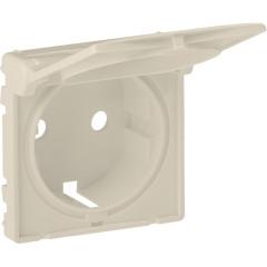 Лицевая панель Legrand Valena Life для розетки с крышкой 2К+З слоновая кость