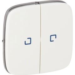 Лицевая панель Legrand Valena Allure для 2-клавишного выключателя с подсветкой белая
