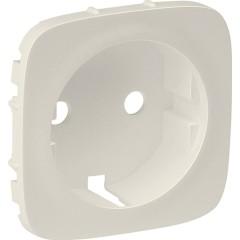 Лицевая панель Legrand Valena Allure для розетки 2К+З слоновая кость