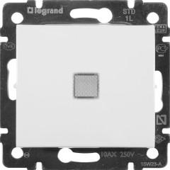 Выключатель Legrand Valena 1-клавишный с подсветкой встроенный 250 В 10 А белый