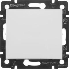 Выключатель Legrand Valena 1-клавишный встроенный проходной 250 В 10 А белый
