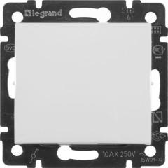 Выключатель Legrand Valena 1-клавишный встроенный промежуточный 250 В 10 А белый