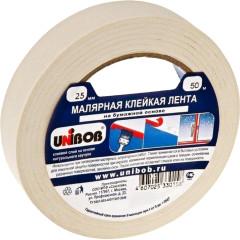 Малярная клейкая лента Unibob 25 мм x 50 м