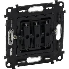 Механизм выключателя Legrand Valena 3-клавишный встроенный 250 В 10 А черный