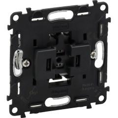 Механизм выключателя Legrand Valena 1-клавишного встроенный 250 В 6 А черный