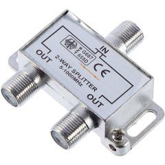 Разветвитель Oxion OX-SPL2W1000PB F-гнездо на TV-гнездо, 10 шт.