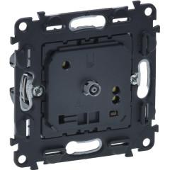 Термостат Legrand для теплых полов с датчиком 1 пост черный