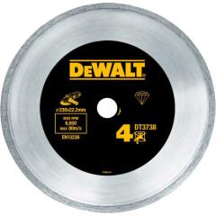 Диск алмазный сплошной по керамике Dewalt 230x22.2 мм h=7 мм