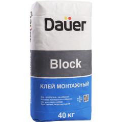 Клей монтажный Dauer Block серый 40 кг