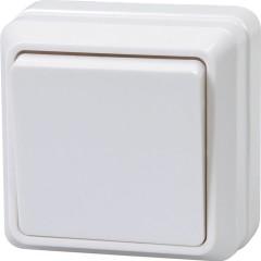 Выключатель IEK Октава ВС20-1-0-ОБ 1-клавишный накладной 250 В 10 А белый