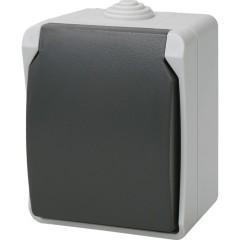 Розетка с крышкой IEK Форс РСб20-3-ФСр о/у с заземлением с защитными шторками IP54 винтовые зажимы в сборе белая