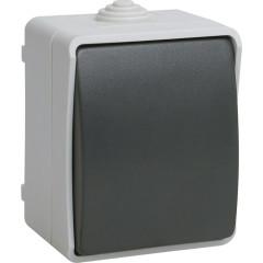 Выключатель IEK Форс ВС20-1-0-ФСр 1-клавишный накладной 250 В 10 А IP54 серый