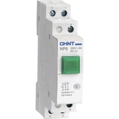 Кнопка модульная Chint NP9-10/1 1НО зеленая