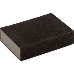Губка шлифовальная Master color средняя грубая карбид кремния 100x70x25 мм