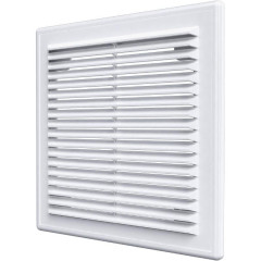 Решетка вентиляционная разъемная Auramax AR 249x249 мм белая
