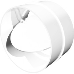 Соединитель круглых воздуховодов ERA СКПО с обратным клапаном D 125 мм