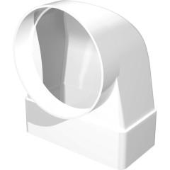 Соединитель ERA СКФП плоского воздуховода 204x60 мм с круглым D 125 мм 90 градусов