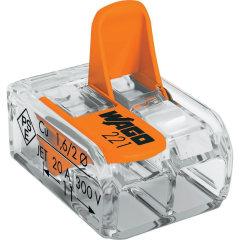 Клемма Wago Compact 450 В 32 А 2 провода 0.14-4 мм2 оранжевый, 100 шт.