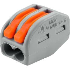 Клемма Wago Classic 400 В 32 А 2 провода 0.08-4 мм2 оранжевый, 50 шт.