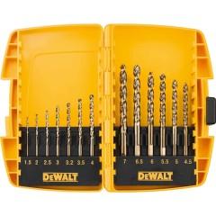 Набор сверл по металлу Dewalt 1.5-7 мм спиральное HSS-G, 13 шт.
