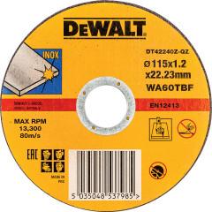 Круг отрезной по металлу Dewalt Industrial 115x22.2x1.2 мм