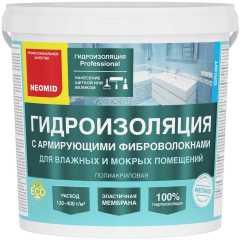 Мастика гидроизоляционная с армирующими фиброволокнами Neomid 6 кг