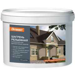 Краска декоративная Оптимист P 811 Шагрень рельефная универсальная для наружных и внутренних работ 25 кг