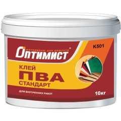 Клей ПВА Стандарт для внутренних работ Оптимист K 501 10 кг